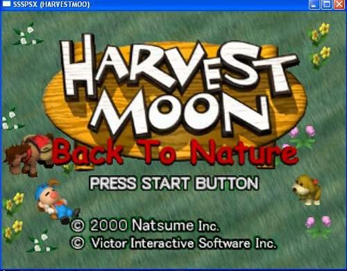 nature spoiler for harvest moon back to nature psx emulator